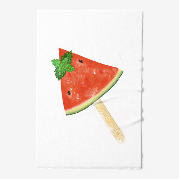 Полотенце «Долька арбуза на палочке с мятой»