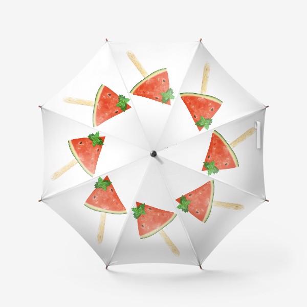 Зонт «Долька арбуза на палочке с мятой»