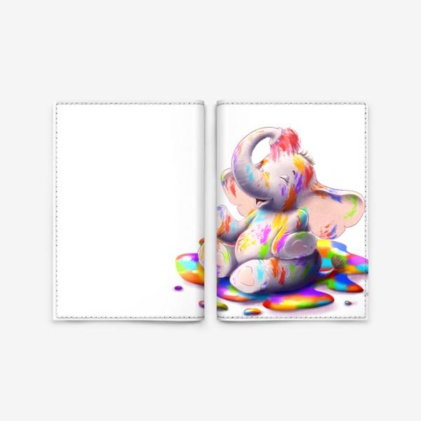Обложка для паспорта «Радужный слоненок»