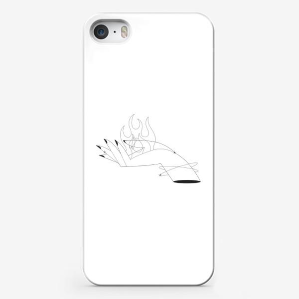 Чехол iPhone «рука и пламя»