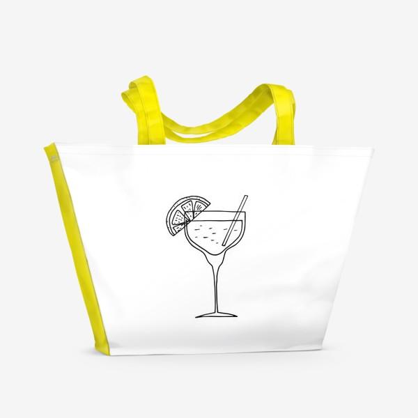 Пляжная сумка «летний коктейль. напиток в бокале. бар»