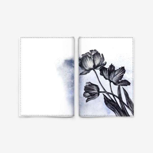 Обложка для паспорта «Тюльпаны. Графика с акварельными элементами»