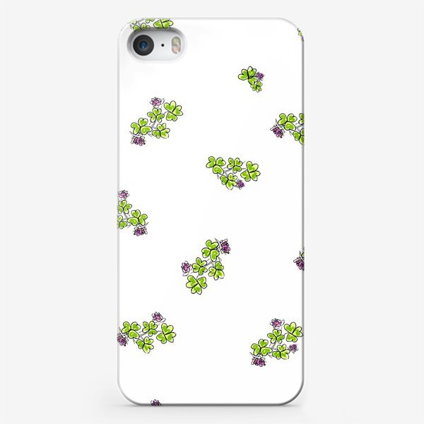 Чехол iPhone «Паттерн Клевер»