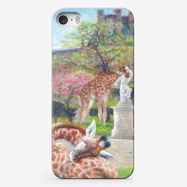 Чехол iPhone «Париж, сад  Тюильри, жирафы»