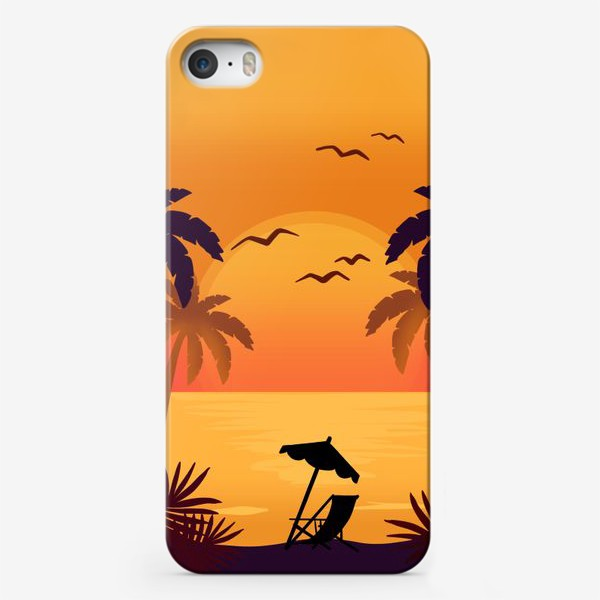 Чехол iPhone «Морской закат»