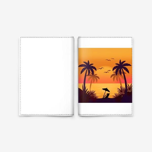 Обложка для паспорта «Морской закат»