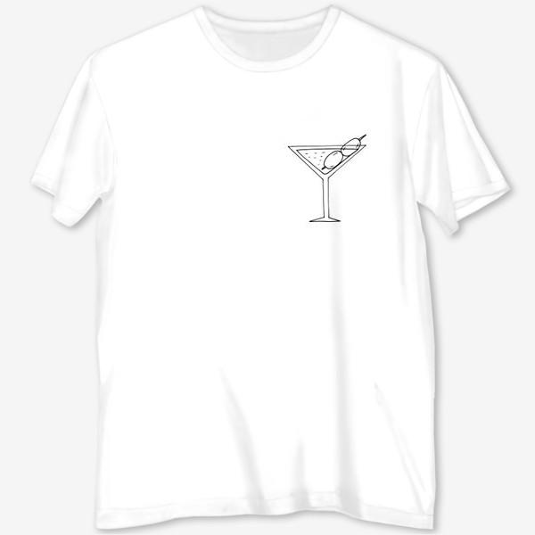 Футболка с полной запечаткой «мартини. коктейль. бар. напитки. пятница»