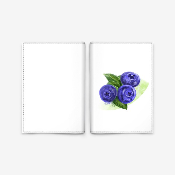 Обложка для паспорта «Черника»