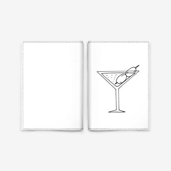 Обложка для паспорта «мартини. коктейль. бар. напитки. пятница»