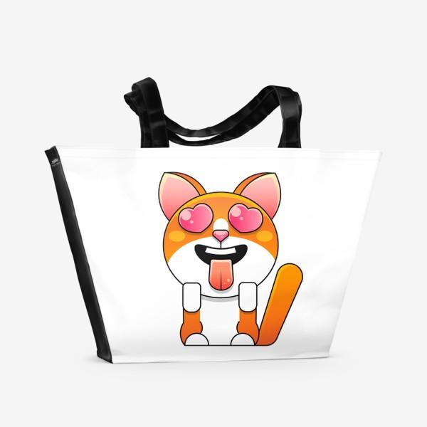 Пляжная сумка «cat»