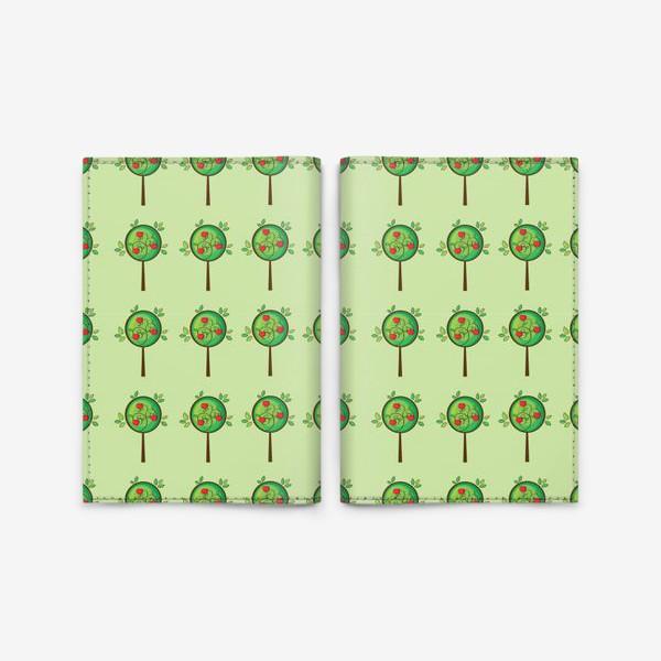 Обложка для паспорта «Яблочный сад»