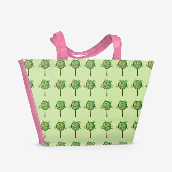 Пляжная сумка «Яблочный сад»