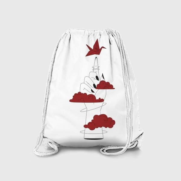 Рюкзак «Рука с журавликом»