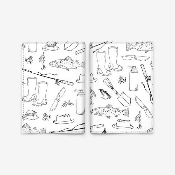 Обложка для паспорта «все на рыбалку!»