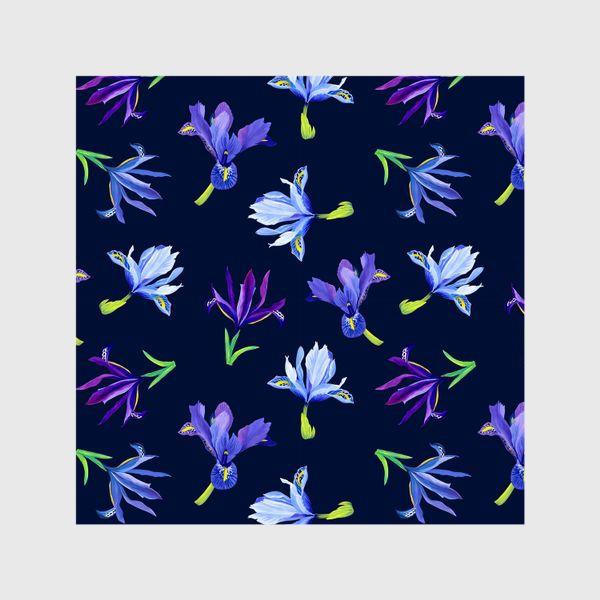 Шторы «Цветы ирисы паттерн»