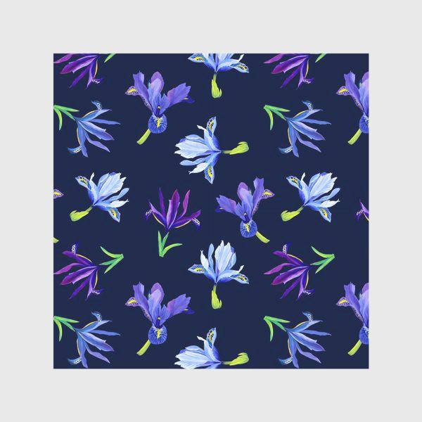 Скатерть «Цветы ирисы паттерн»