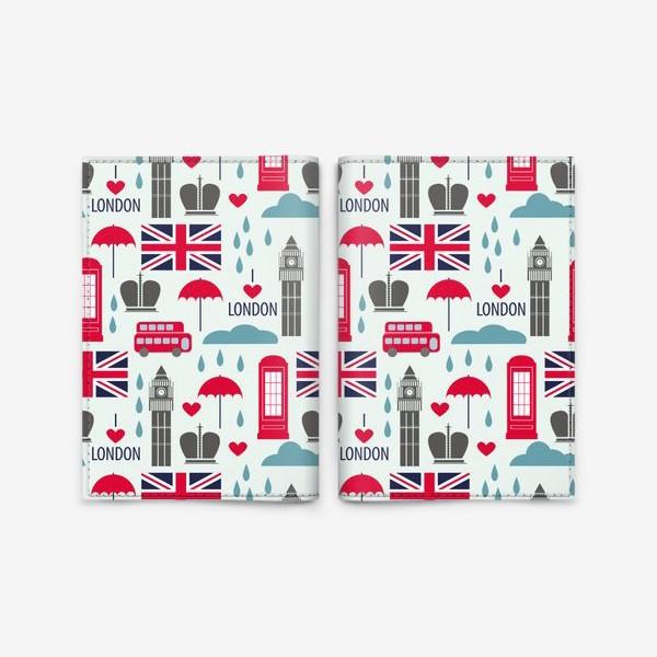 Обложка для паспорта «Паттерн Англия»