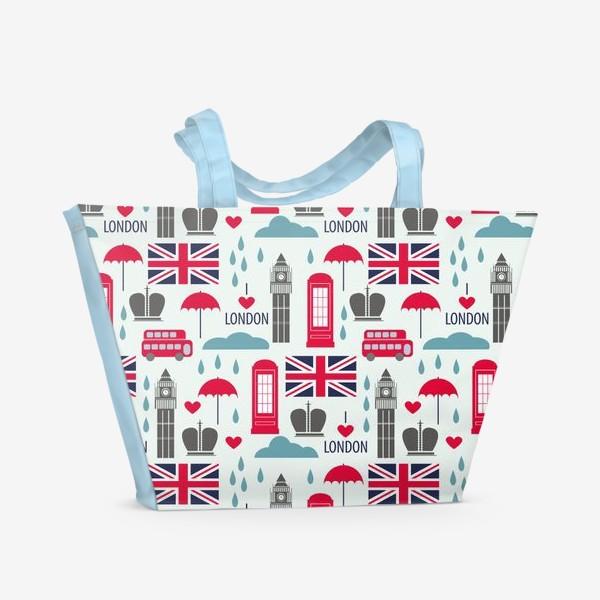 Пляжная сумка «Паттерн Англия»
