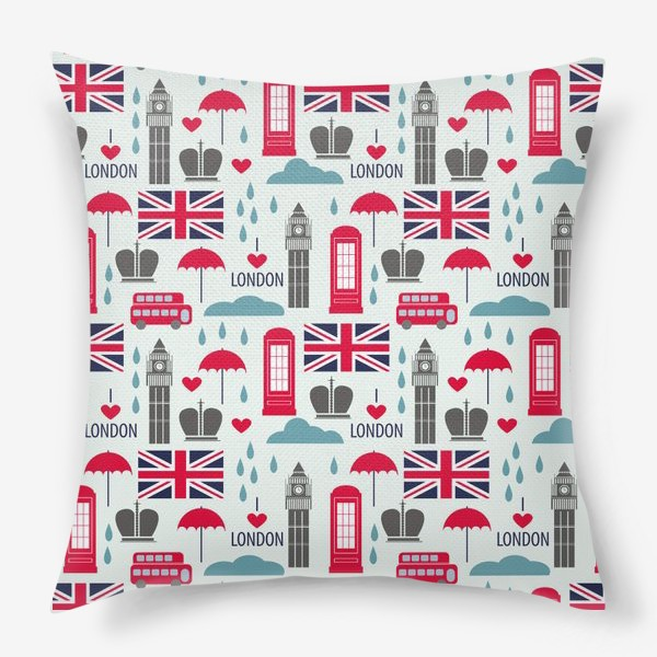Подушка «Паттерн Англия»