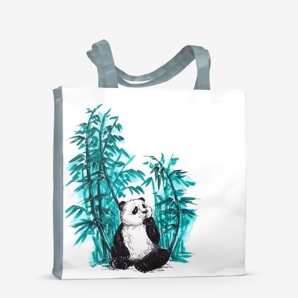 Сумка-шоппер «Панда и бамбук»
