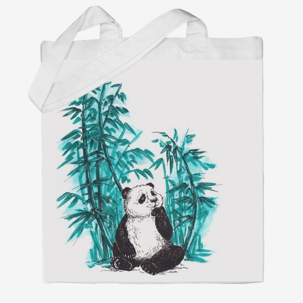 Сумка хб «Панда и бамбук»