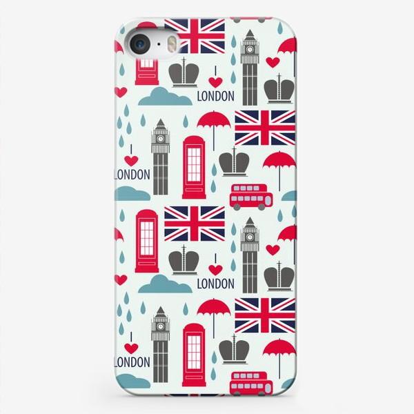 Чехол iPhone «Паттерн Англия»