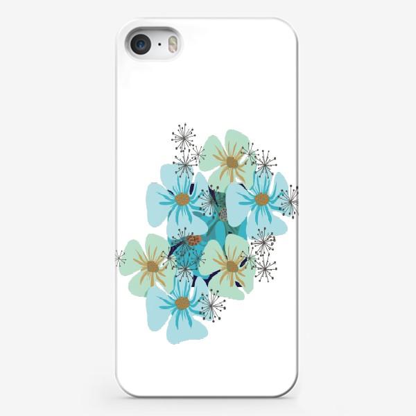 Чехол iPhone «Маки голубые »