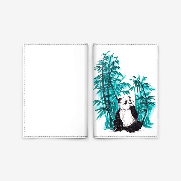 Обложка для паспорта «Панда и бамбук»