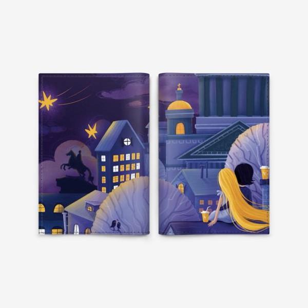 """Обложка для паспорта «Триптих """"Магия Питерской ночи"""". Картина 3»"""