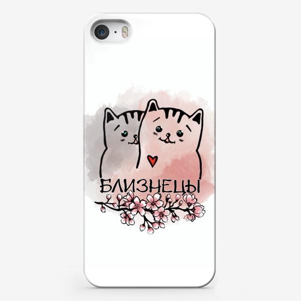 Чехол iPhone «Близнецы.  Коты - котики. »