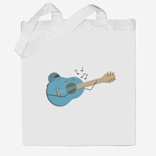 Сумка хб «Гитаристка »
