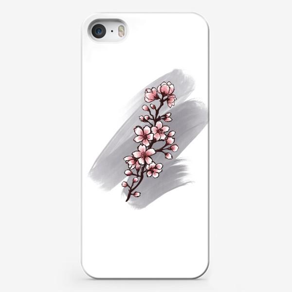 Чехол iPhone «Веточка Сакуры. Весна. С любовью.»