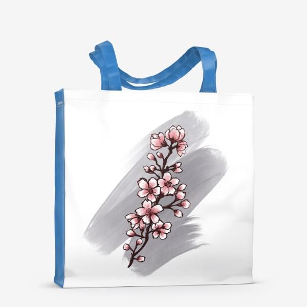 Сумка-шоппер «Веточка Сакуры. Весна. С любовью.»