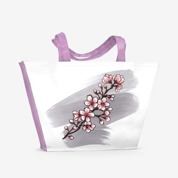 Пляжная сумка «Веточка Сакуры. Весна. С любовью.»
