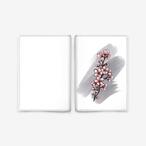 Обложка для паспорта «Веточка Сакуры. Весна. С любовью.»
