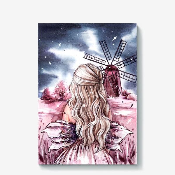 Холст «розовый мир»