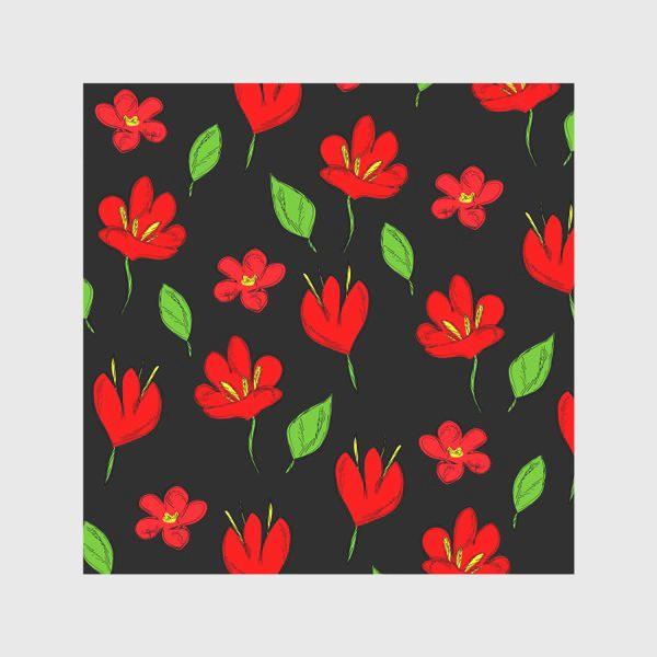 Скатерть «красные цветы»