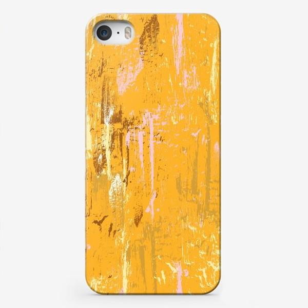 Чехол iPhone «мазки краски, оранжевый»