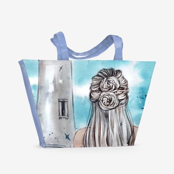 Пляжная сумка «бирюзовая фантазия»