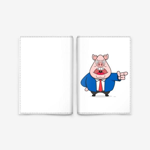 Обложка для паспорта «Свинья»