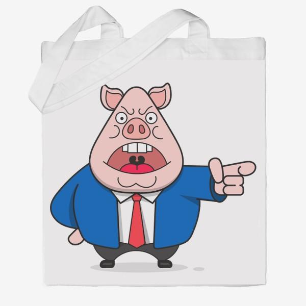 Сумка хб «Свинья»