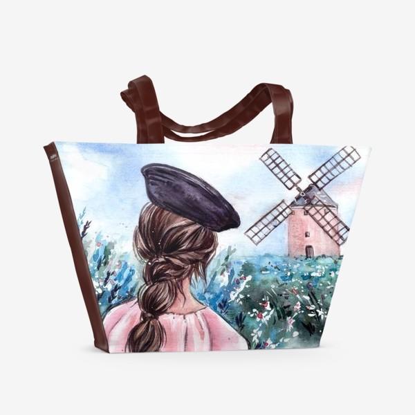 Пляжная сумка «васильковые сны»