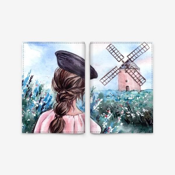 Обложка для паспорта «васильковые сны»