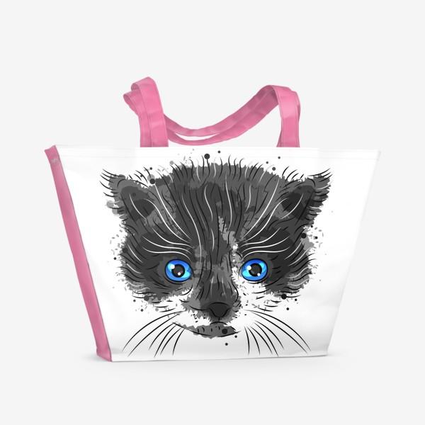 Пляжная сумка «Котик красавчик»