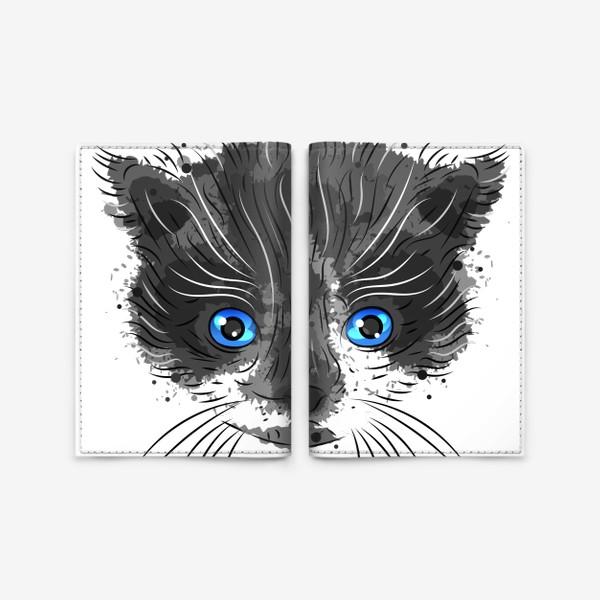 Обложка для паспорта «Котик красавчик»