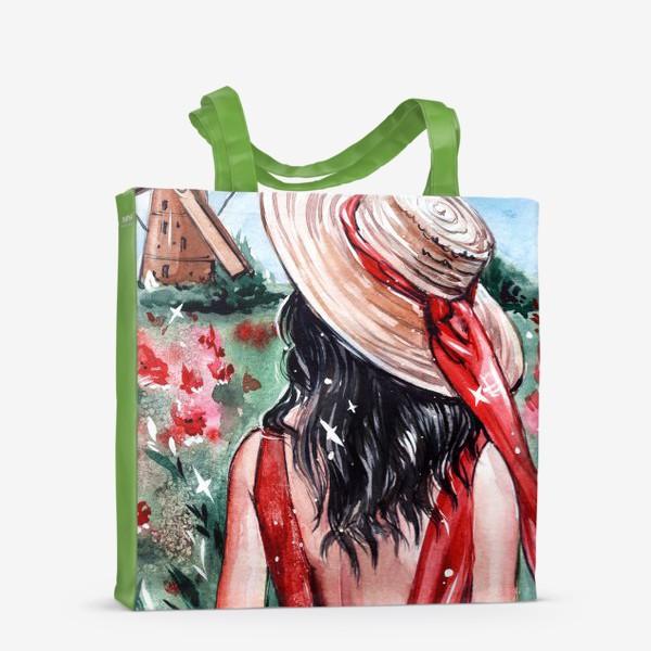 Сумка-шоппер «леди в красном»