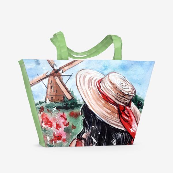 Пляжная сумка «леди в красном»