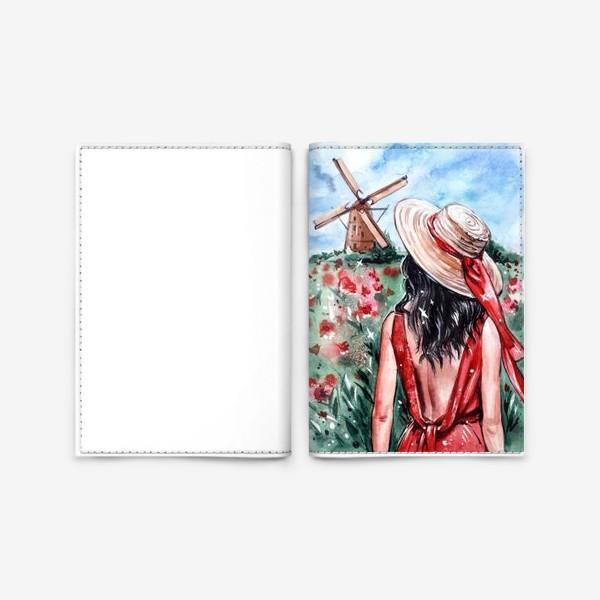 Обложка для паспорта «леди в красном»