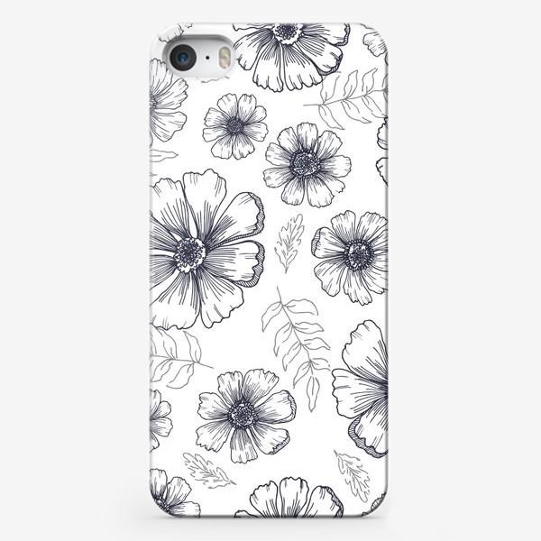Чехол iPhone «Цветы и листья»