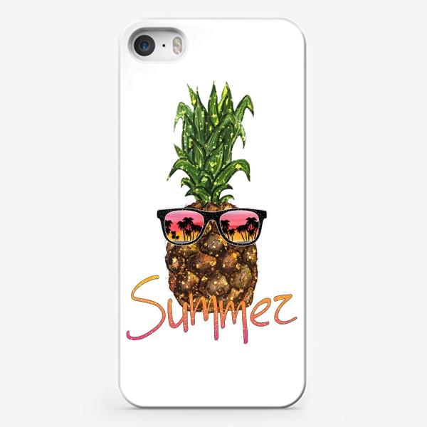 Чехол iPhone «Ананас в солнечных очках, Лето»